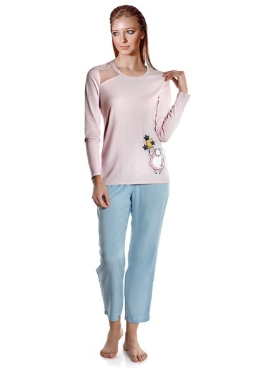 Doremi Little Lamb Kadın Pijama Takımı Pudra